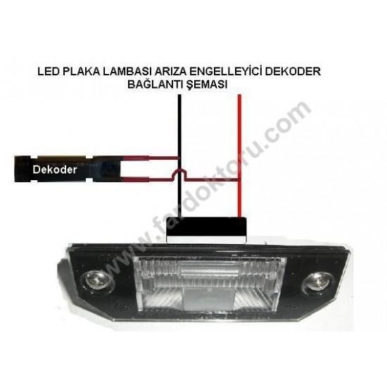 BMW E39 E46 E60 E90 X5 BEYAZ LED PLAKA AYDINLATMA SETİ