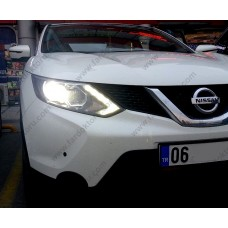 NISSAN QASHQAI LED XENON KISA FAR AMPULÜ PHOTON H11