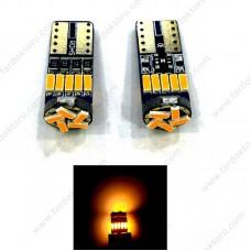 T10 TURUNCU DİPSİZ LED PARK AMPULÜ 15SMD  T10 W5W