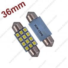 36mm BEYAZ 12 smd SOFİT OTO LED AMPULÜ