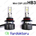 HB3 9005 MİNİ LED OTO AMPULÜ CSP Çipli Fardoktoru