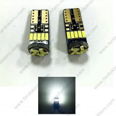 T10 DİPSİZ LED PARK AMPULÜ 5000K SOFT BEYAZ 15SMD W5W